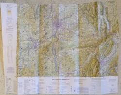 Carte Aérienne I.G.N. : LYON (St-Etienne - Grenoble) - 1/250 000ème - 1987. - Cartes