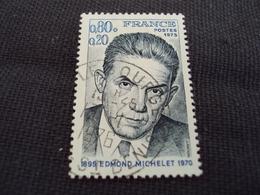 "70-79- Timbre Oblitéré N°   1825 ""  Edmond Michelet ""   0.50 - Used Stamps"