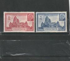Indochine Neuf * 1941    N° 222/223  Temple D'Angkor Et Maréchal Pétain - Indochine (1889-1945)
