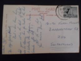 Ceylan Carte De Colombo 1954 Pour Zug - Sri Lanka (Ceylon) (1948-...)