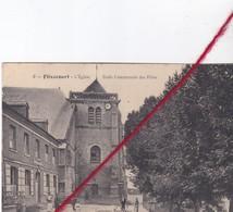 CP 80 -   FLIXECOURT   -   L'église  - école Communale Des Filles - Flixecourt