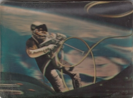 Astronaut Lt Col.Edward White 3 D Postcard 1970 First American To Walk In Space - Astronomia
