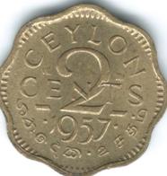 Ceylon - Elizabeth II - 1957 - 2 Cents - KM124 - Sri Lanka
