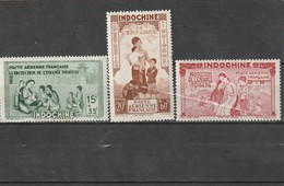 Indochine Neuf * 1942   Poste Aérienne N° 20/22  Protection De L'enfance Indigène - Indochine (1889-1945)