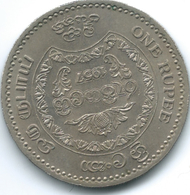 Ceylon - Elizabeth II - 1957 - 1 Rupee - 2500 Years Of Buddhism - KM125 - Sri Lanka