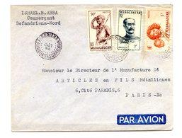 Madagascar, Lettre De BEFANDRIANA - NORD Pour Paris, 1954 - (C1031) - Madagascar (1889-1960)
