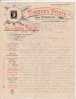 """Contenu Illustré """"Timbres Post Maison A.Maury"""" Du Camp Lechfeld: Postprüfungsstelle Lager Lechfeld"""". - Marcophilie (Lettres)"""