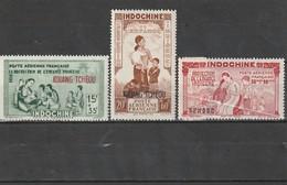 Kouang-Tchéou Neuf * 1942  Poste Aérienne N° 1/3 Protection De L'enfance Indigène - Unused Stamps