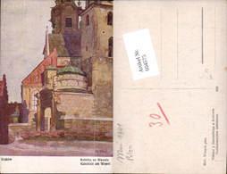 604575,tolle Künstler AK Richard Wiltsch Krakau Krakow Poland Katedrale Wawel - Polen