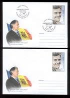 Moldova 2019 80th Birth Anniversary Gheorghe Vrabie Painter And Ilustrator Pre-paid Envelope + FDC Legible Postmark!!! - Moldova