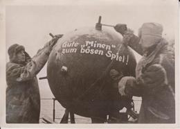 MINEN MINENLEGER FOTO DE PRESSE WW2 WWII WORLD WAR 2 WELTKRIEG Aleman Deutchland - Guerra, Militares