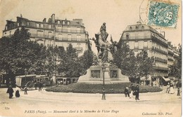 32097. Postal PARIS 1904. Monument Victor Hugo, Animée - Francia