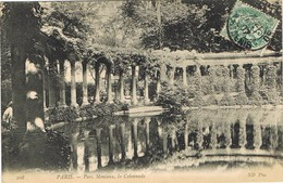 32098. Postal PARIS 1907. Parc MONCEAU, La Colonnade - Francia