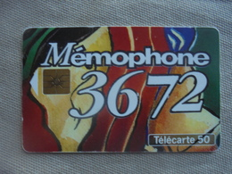 Télécarte 50 Unités MEMOPHONE 3672 02/94 - Telecom Operators