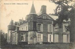 -dpts Div.-ref-AH152- Calvados - Herouville Saint Clair - Chateau De Lébisey - Chateaux -verso Cachet Hopital Temporaire - Herouville Saint Clair