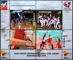 Dominicana 2018 ** HB XXIII Juegos Centroamericanos Y Del Caribe. Baloncesto. Béisbol. Gimnasia Artística. Voleibol. - Repubblica Domenicana