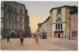 Cpa Bon Etat , Italie , Toscane , Livorno , Via De-larderel, Carte Rare , Colorisée, Courrier Au Verso - Livorno
