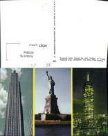 603894,Mehrbild Ak New York City RCA Building Statue Of Liberty Empire State Building - NY - New York