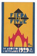 CARTOLINA CARTE POSTALE  FIERA DI FIUME 1929 - Pubblicitari