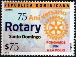 "Dominicana 2018 ** 75 Años Rotary Santo Domingo. ""Pongamos Fin A La Polio"". - Dominican Republic"