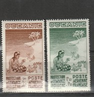 Océanie Neuf * 1942  Poste Aérienne N° 4/5  Protection De L'enfance Indigène - Neufs