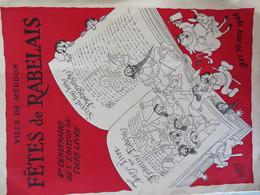 92 MEUDON 9 & 10 Juin 1946 Fêtes De Rabelais Programme Dessin Illustateur Dubout + 1 Carte - Programmes