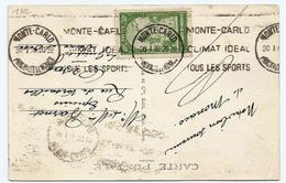 MONACO -oblit. 30/01/1938 - Flamme Monte Carlo-.n°122 - Marcophilie - EMA (Empreintes Machines)