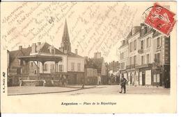 France - Carte Postale Ancienne Dos Non Divisé - 1907 - Argenton Sur Creuse - Place De La République - Edition BF - France