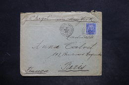 BRÉSIL - Enveloppe Pour Paris En 1917 Par Le S.S.Argot De New York , Oblitération Plaisante - L 25909 - Cartas