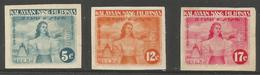 Philippines (Japanese Occupation)  - 1943 Independence Declaration Imperf MNH **     Sc N29a-31a - Philippines