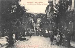 SAULIEU   FETES D'AVIATION 11 Et 12 AOÛT 1912  LA RUE DU MARCHE - Saulieu