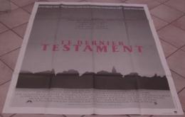 AFFICHE CINEMA ORIGINALE FILM LE DERNIER TESTAMENT LITTMAN Jane ALEXANDER William DEVANE 1983 TBE AVORIAZ - Affiches & Posters