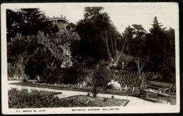 Ref 1282 - Early Real Photo Postcard - Botanical Gardens Wellington New Zealand 1d To UK - New Zealand
