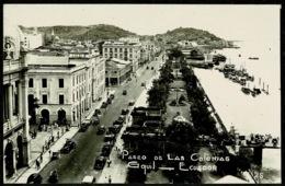 Ref 1282 - Real Photo Postcard - Paseo De La Colonias - Guayaquilo Ecuador - Ecuador