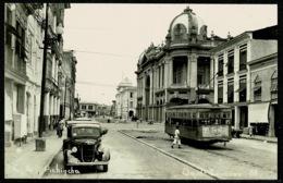 Ref 1282 - Real Photo Postcard - Car & Tram On Calle Pichincha Guayaquilo Ecuador - Ecuador