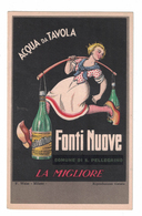 CARTOLINA CARTE POSTALE  ACQUA DA TAVOLA FONTI NUOVE  Illustratore FAROPPA - Publicité