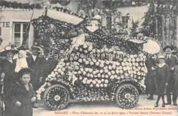 SAULIEU   FETES D'AVIATION 11 Et 12 AOÛT 1912  VOITURE FLEURIE (Docteur Simon) - Saulieu