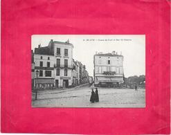 BLAYE - 33 - CPA DOS SIMPLE RARE - Cours Du Port Et Rue Saint Siméon  - BES3/SAL1 - - Blaye