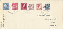 Belgium Cover With More Stamps Sent To Denmark Bruxelles 11-7-1951 - Covers & Documents