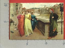 CARTOLINA NV ITALIA - FIRENZE - Incontro Di Dante E Beatrice - 10 X 15 - Personaggi Storici
