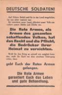 WWII WW2 Leaflet Flugblatt Tract Soviet Propaganda Against Germany  CODE 988  FREE STANDARD SHIPPING WORLDWIDE - 1939-45