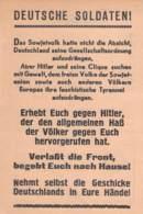 WWII WW2 Leaflet Flugblatt Tract Soviet Propaganda Against Germany  CODE 987  FREE STANDARD SHIPPING WORLDWIDE - 1939-45