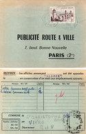 """Publicité Route Et Ville Pars (2°) Affiche """"Aldrex"""" - Cachet Octogonal  (112153) - Publicité"""