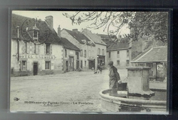 CPA 23 - Saint Etienne De Fursac - La Fontaine - Hotel Cremier - 1913 - France