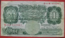 One / 1 Pound (WPM 363c) - …-1952: Vor Elizabeth II.