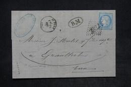 FRANCE - Enveloppe De Saint Pons Pour Graulhet En 1871 , Affranchissement Cérès , GC 3822 , Cachet BM - L 25919 - 1849-1876: Période Classique