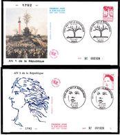 2772 2773 2774 2775 Lot 4 Enveloppes Premier Jour  Proclamation De République Raysse Alechinsky Garouste Blais Paris 26 - FDC