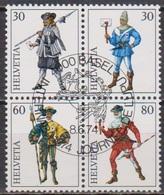 Schweiz 1974  MiNr.1020 - 1023 4er Block Aus Block 22 O Gest. Intern. Briefmarkenausstellung( 5 )günstige Versandkosten - Svizzera