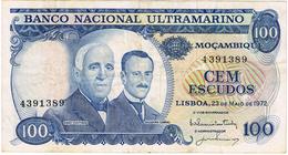 MOÇAMBIQUE - 100$00 (CEM ESCUDOS) - LISBOA , 23 DE MAIO DE 1972. - Portugal