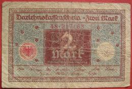2 Mark 1920 (WPM 59) 1.3.1920 Darlehnskassenschein - 1918-1933: Weimarer Republik